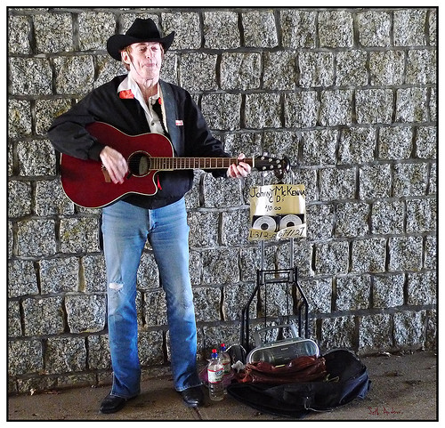 Johnny McKenna, Street Musician