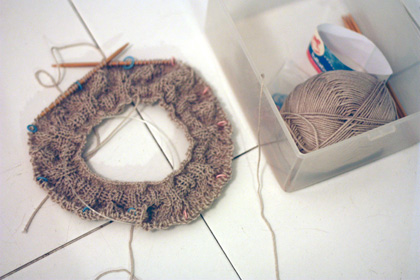 slouchy hat #2 - WIP