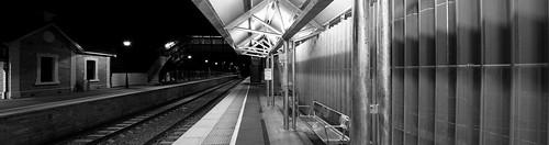 Blackwood Railway Station - North View - B&W