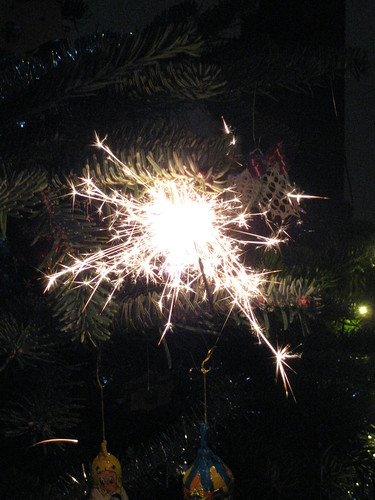 Fireworks on the Christmas Tree
