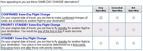 Southwest Same Day Change Options in Survey