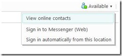 Windows Live Hotmail Embedded Messenger