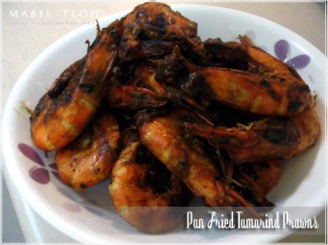 Pan fried tamarind prawns