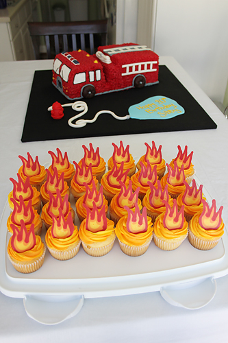 Fire Truck Cake Fire Cupcakes Heather Drive