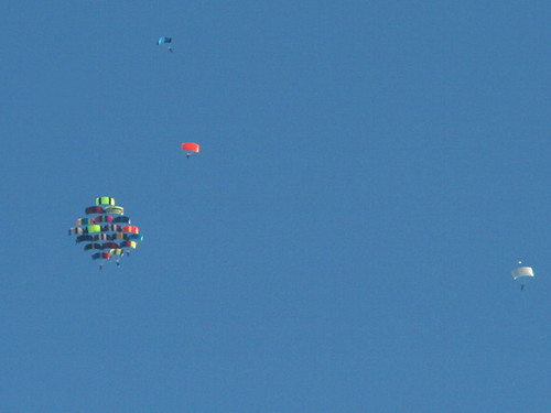 Parachute-formation