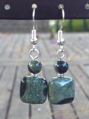 Kambaba jasper earrings