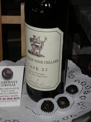 Painted truffle chocolate