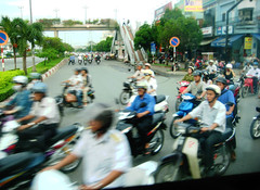 waiting to cross (ho chi minh city)
