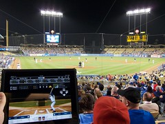 iPad and the MLB At Bat 2010 app at Dodger Stadium