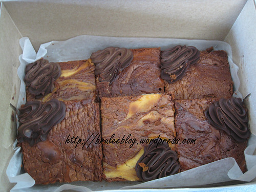 Callebaut and cream cheese brownies