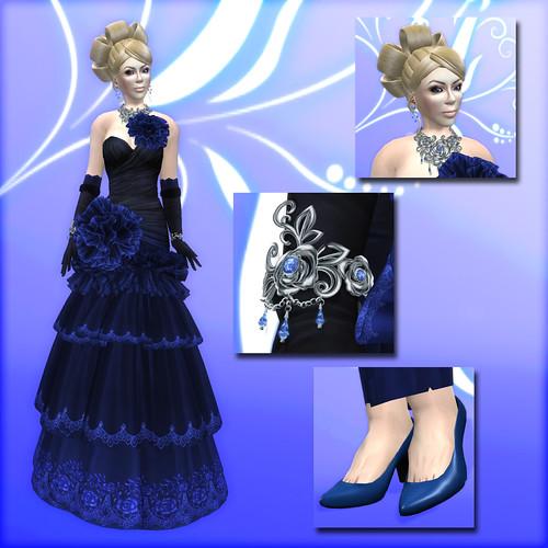 Flora - Blue Dahlia A