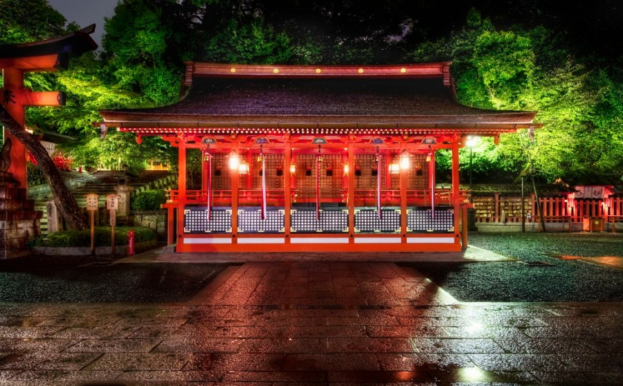 Red Temple in the Moon Forest