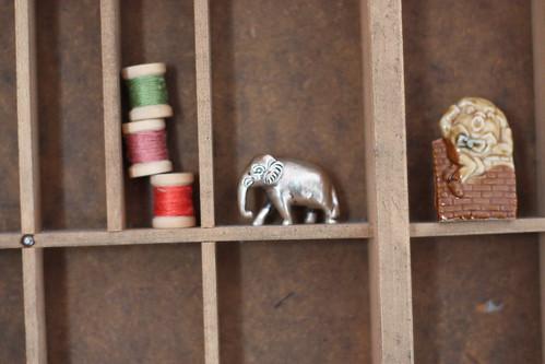 Tiny silver elephant