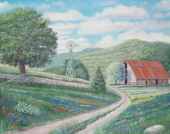 Hill Country Bluebonnets - 18x24