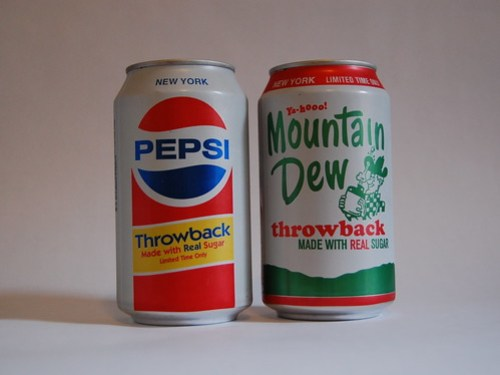 pepsi & mountain dew throwback