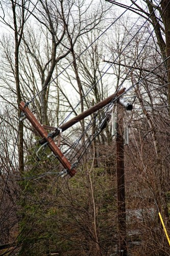 2010 wind storm - snapped pole