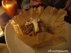 Vermicelli noodles & jicama mushrooms