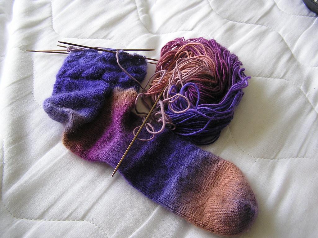 Mochi Entrelac Socks 05