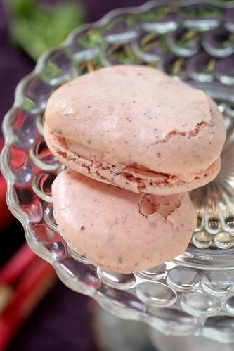 Rhubarb Macarons