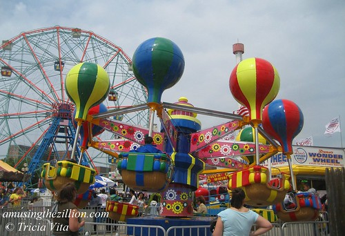 New Ride at Deno's Wonder Wheel Park, Coney Island.  June 12, 2010. Photo © Tricia Vita/me-myself-i via flickr