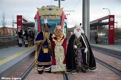 Los Reyes Magos llegaron a Boadilla en Metro Ligero
