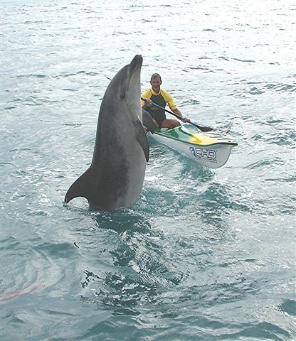 Moko tailwalks for a surfski by Diveworks Charters.