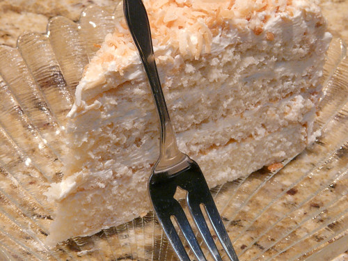it's coconut layer cake day!