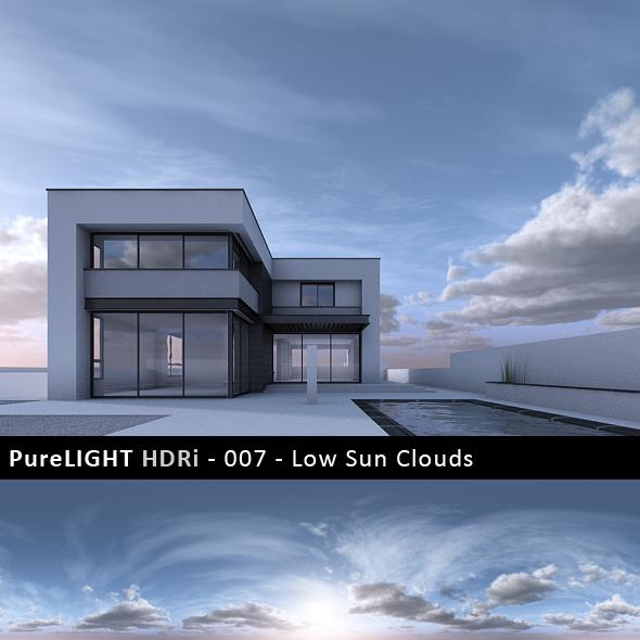PureLIGHT HDRi 007 - Low Sun Clouds