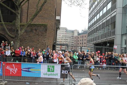 London Marathon, near St Katharine's Dock