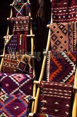 Display of Southwest Indian Weavings