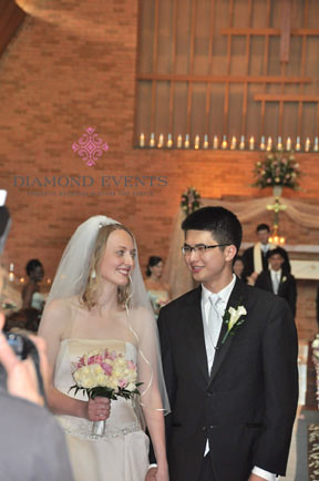 Bride and Groom for Diamond Events Wedding
