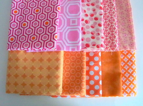 pink and orange fabric