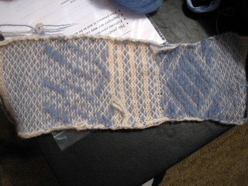 After felting knit-weave sampler