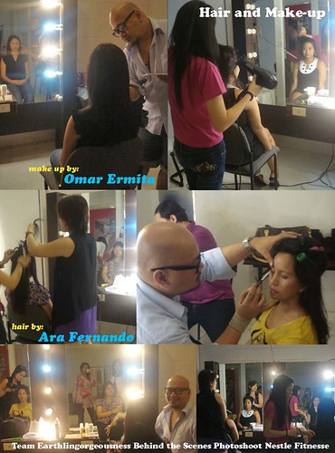 Team Earthlingorgeousness Nestle Fitnesse Photoshoot Hair and Make-up