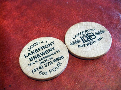 lakefront beer tokens