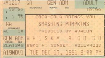 Smashing Pumpkins, Whisky