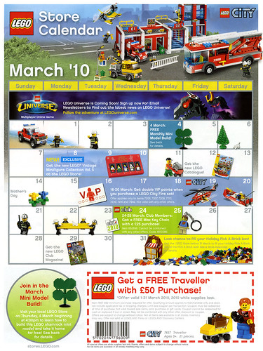 March 2010 Lego Calendar Toysnbricks LEGO Forums