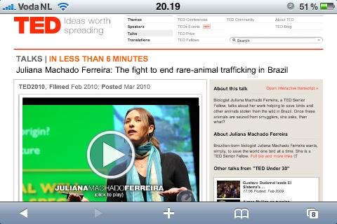 TED Talks on my iPhone