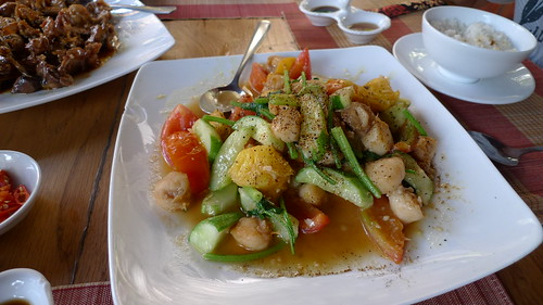 scallop and veggie stiry fry from chez carole phu quoc