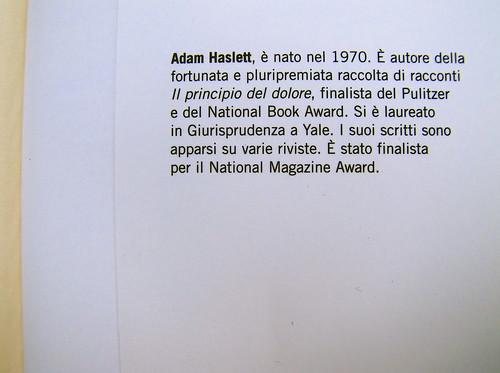 Adam Haslett, Union Atlantic, Einaudi sl 2010, progetto grafico di Riccardo Falcinelli, alla cop.: ©Mary Evans / Archivi Alinari: risvolto della q. di cop. (part.)
