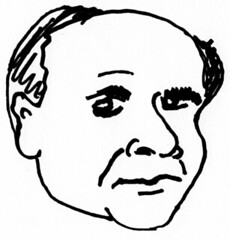 Danny Devito, drawn in 2 minutes on 2010/04/17