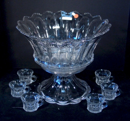 Fancy Crystal Punch Bowl