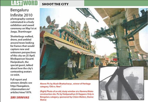 Citizen Matters (Bengaluru South Edition) Covers Bengaluru Infinite 2010