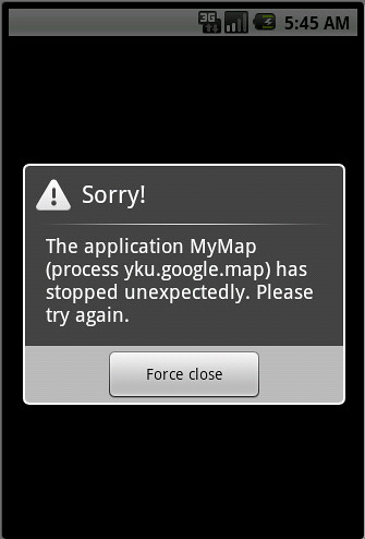 Google Map run Error