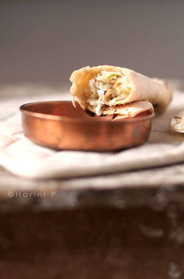 Cabbage stuffed rotis