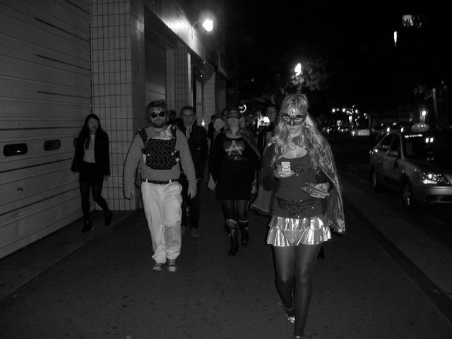 We walk the streets at night...
