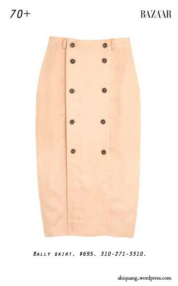 Bally skirt, $695. 310-271-3310.