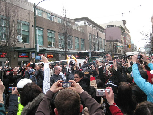 Downtown Vancouver Feb 12 Torch relay