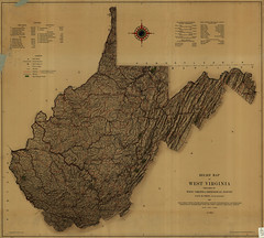 Relief Map of West Virginia. Prepared by West ...