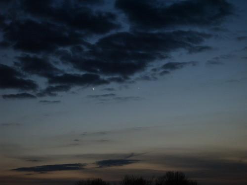 Conjunction of Venus and Mercury